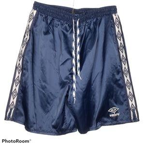 Vtg 90s Umbro Nylon Shorts Soccer Futbol Large